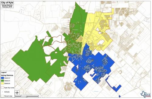 Texas Voting Districts Map Voting Districts Map | City of Kyle, Texas   Official Website