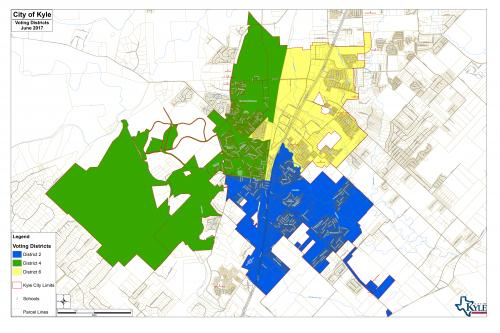 Voting Districts Map  City of Kyle Texas Official Website