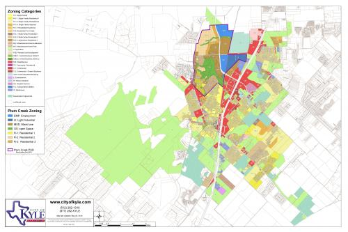 Map Of Texas City.Zoning Map City Of Kyle Texas Official Website