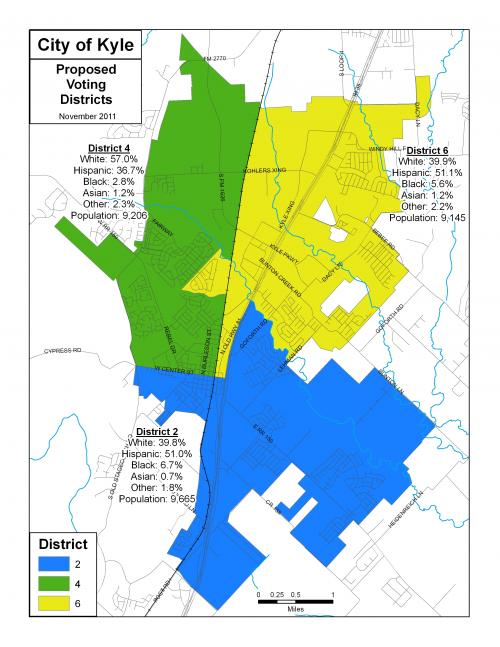 Map Of Texas District 6.Kyle City Council Approves Redistricting Map City Of Kyle Texas